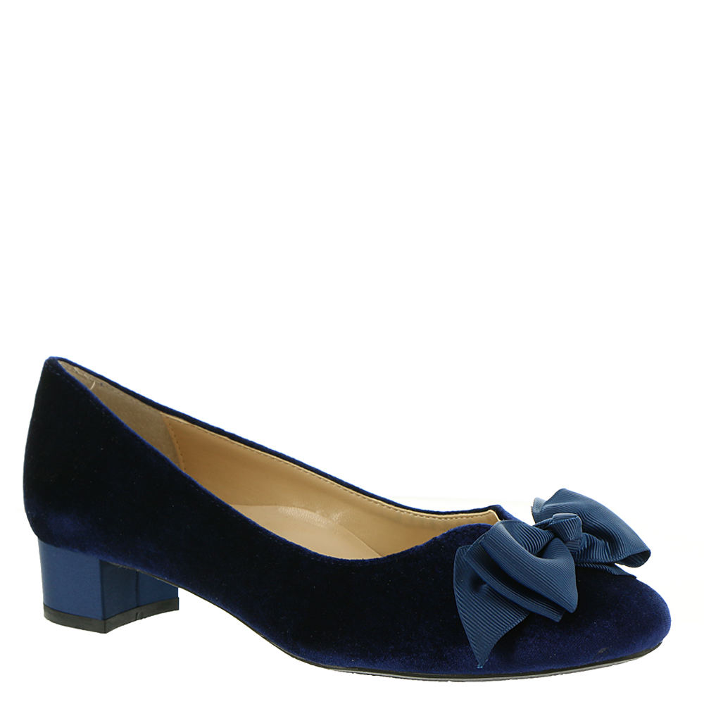Edwardian Shoes & Boots | Titanic Shoes J. Renee Cameo Womens Navy Pump 6 M $44.99 AT vintagedancer.com