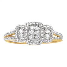 Women's Diamond Halo Ring