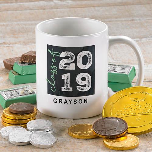 Personalized Graduate Mug and Treats