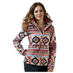 Women's Aztec-Print Fleece Jacket
