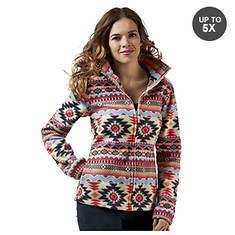 Women's Aztec-Print Fleece Jacket
