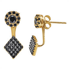Gold-Plated Front & Back Earring