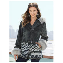 Ethnic Faux Fur Jacket