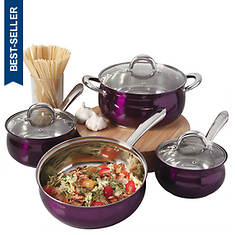 Oster 7-Piece Stainless Steel Color Cookware Set