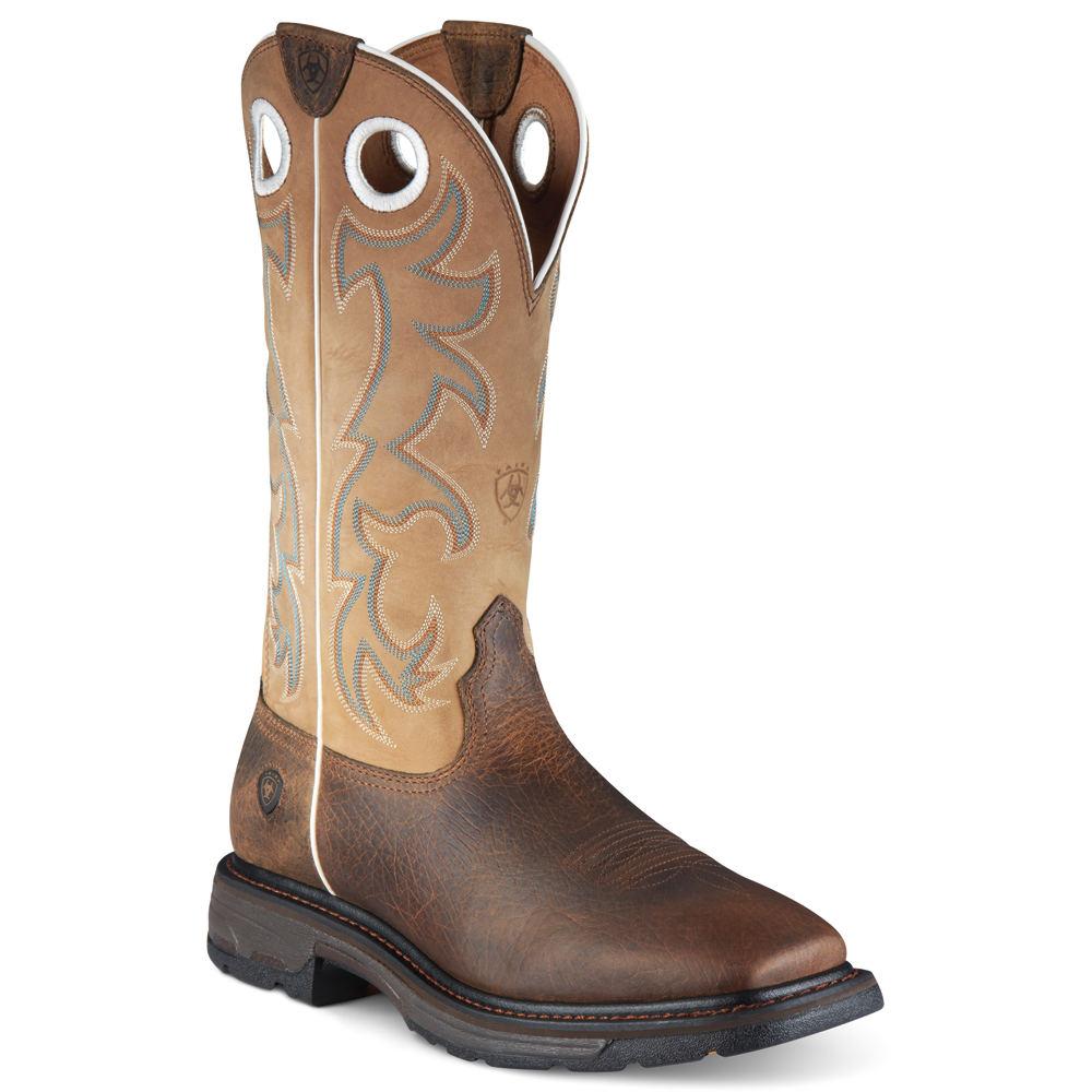 583adb6023f Details about Ariat Workhog Wide Sq Toe ST Tall Men's Boot