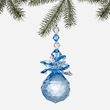 Simulated Birthstone Ornament - March