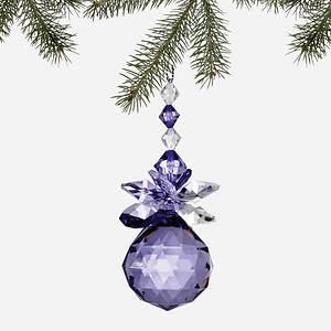 Simulated Birthstone Ornament - February