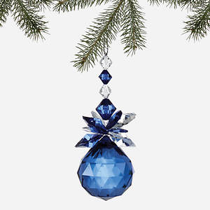 Simulated Birthstone Ornament - December