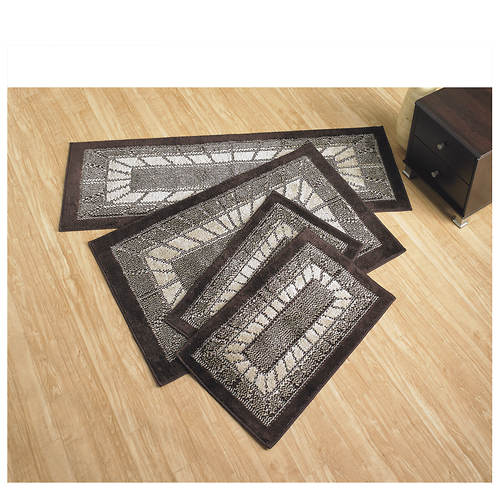 Starburst 4-Piece Rug Set