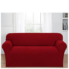 Stretch Basketweave Loveseat Slipcover