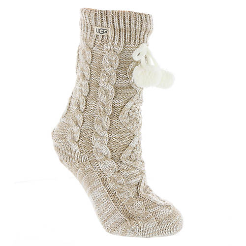 UGG® Women's Pom Pom Fleece Lined Crew Sock