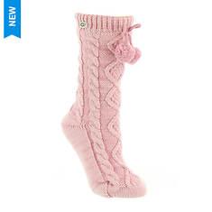 UGG® Women's Pom Pom Fleece Lined Crew Sock