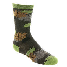 Smartwool Boys' Charley Harper Glacial Bay Camo Leaf Crew Sock