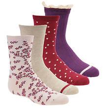Stride Rite Girls' 4-Pack Macy Meadow Crew Socks