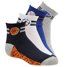 Stride Rite Boys' 4-Pack Devo Digi Sport Quarter Socks