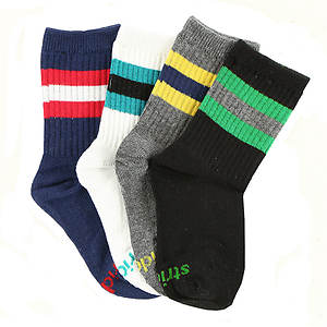 Stride Rite Boys' 4-Pack Tucker Tube Socks