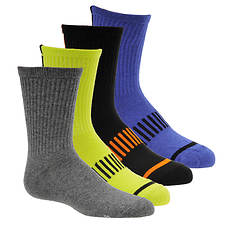 Stride Rite Boys' 4-Pack Andy Athletic Quarter Socks