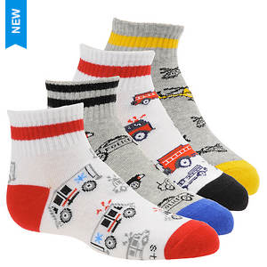 Stride Rite Boys' 4-Pack Austan Quarter Socks