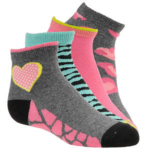 Stride Rite Girls' 4-Pack Fierce Frances Quarter Socks