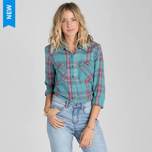 Billabong Women's Flannel Frenzy Top