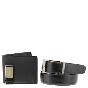 Stacy Adams Wallet, Money Clip & Belt Gift Set