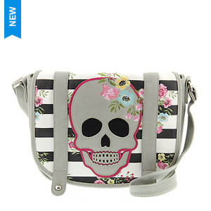 Loungefly Skull and Stripes Crossbody Bag