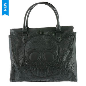 Loungefly Lattice Skull Tote Bag