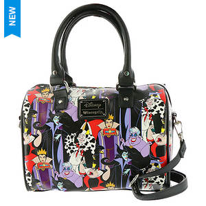 Loungefly Disney Villians Print Duffle Bag
