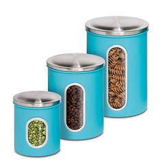 3-Pack Metal Storage Canisters