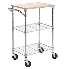 2-Shelf Urban Rolling Cart