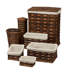 7-Piece Wicker Hamper Kit