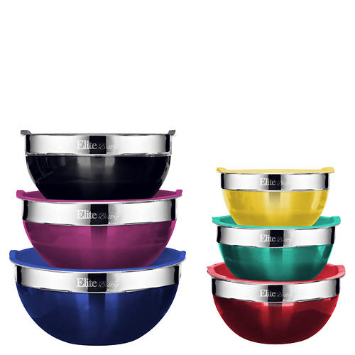 Elite 12-Piece Stainless Steel Bowl Set