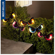 Lighted 5-Piece Halloween Eyes Set