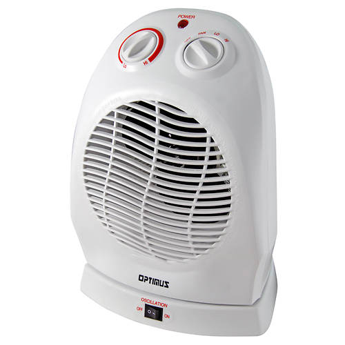 Optimus Portable Oscillating Fan Heater Color Out Of