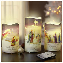 3-Piece Nativity LED Candle Set