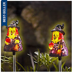2-Pack Witch Solar Stake Lights