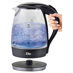 Elite 7-Cup Glass Electric Kettle