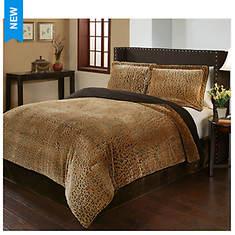 Premium Velvet Microplush Comforter Set - Opened Item
