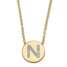 CZ/Gold-Plated Initial Necklace