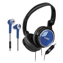 Coby Headphone & Earbud Set
