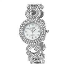 Women's Silvertone Crystal Watch