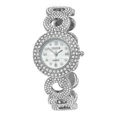Women's Silvertone Crystal Watch