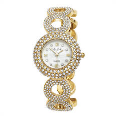 Women's Goldtone Crystal Watch