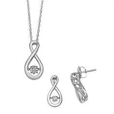 Glittering Stars Diamond Earring & Necklace Set