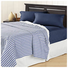 Two-Pack 200-Thread Count Stripe & Solid Sheet Sets