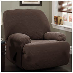 Double Diamond Stretch Slipcover - Jumbo Recliner