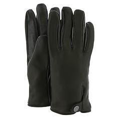 UGG® Men's Leather Smart Glove Snap Detail