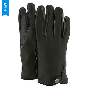 UGG® Men's Leather Smart Glove Snap Detail