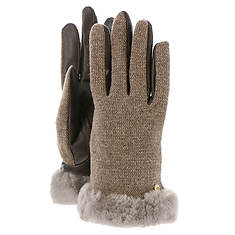 UGG(R) Women's Shorty Smart Febric Glove w/Short Pile Trim