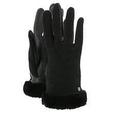 UGG® Women's Shorty Smart Fabric Glove w/Short Pile Trim